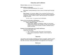 American Resume Examples by Reinveting The Archaeology Cv Resume Doug U0027s Archaeology