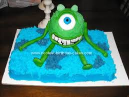 monsters inc birthday cake coolest monsters inc cakes