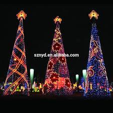 looking large tree lights outdoor chritsmas decor