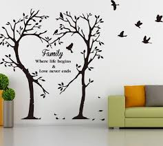 family inspirational love tree wall art sticker wall sticker