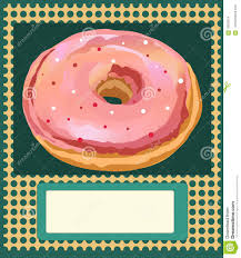 An Invitation Card Poster Vector Template With Donuts Advertising Business Card An