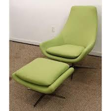 mid century danish modern lime green swivel lounge chair u0026 ottoman