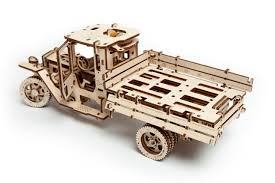 wooden pickup truck channeldistribution ugears wooden model kit truck ugm 11