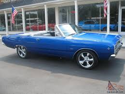 convertible dodge dart dodge dart convertible electric blue 5 7 liter hemi buckets sure grip