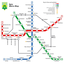 Metro Green Line Map by Metro Map Kiev Expat Services
