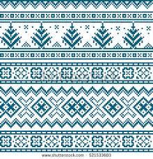 seamless pattern scandinavian folk stock vector