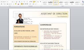 modern resume template word 2017 gratuit doc modele cv word gratuit pour assistant de direction 2015