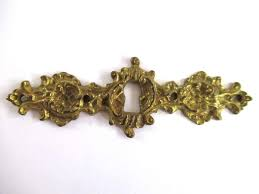 antique looking cabinet hardware antique keyhole cover escutcheon ornate brass keyhole frame