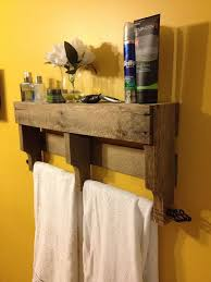 bathroom towel rack ideas pallet wooden wall towel holder recycled pallet ideas