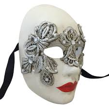 volto mask venetian mask in london for him and silver macrame volto