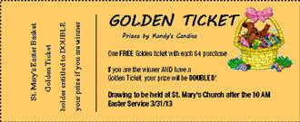 golden tickets make great incentives