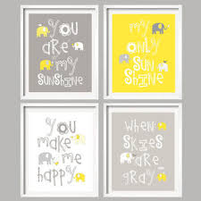 You Are My Sunshine Wall Decor Shop Gray And Yellow Bathroom Wall Art On Wanelo