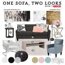 Sofa In Edmonton How To Style One Sofa Two Different Ways The Diy Mommy At The