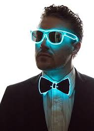 light up bow tie neon nightlife light up bow tie for men aqua import it all