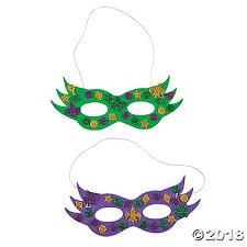 mardi gras masks pictures gras glitter mask craft kit