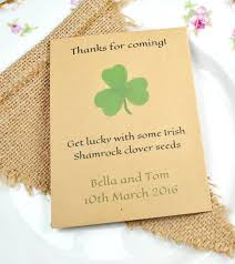 wedding seed favors shamrock seed packet wedding favour wedding favour