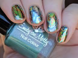 emily de molly oil spill nail foils