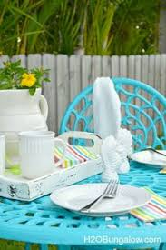 make your own patio table with built in ice boxes fabulous