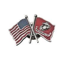 Flag Corps Pewter Eagle Globe U0026 Anchor American Flag Pin