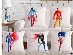 Home Decor Cushions The Avengers Theme Printed Linen Home Decor Cushion Car Seat Back