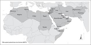 africa map review map of the mena region including the countries that are open i