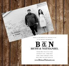 wedding postcards wedding invitation postcards black and white photo 4x6 or 5x7