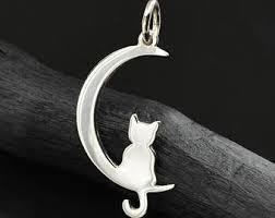 moon cat jewelry etsy
