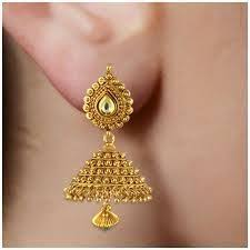 kerala style jhumka earrings pin by eman on jhumka indian jewelry ear rings and
