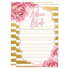 bridal shower words of wisdom advice for the cards roses gold stripes the spotted olive