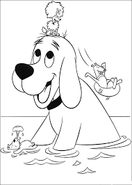 animations 2 coloring pages clifford big red dog