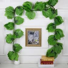 aliexpress com buy 240cm fresh maple grape leaves artificial ivy