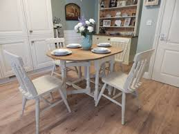shabby chic gate leg dining table u0026 4 chairs vintage solid oak