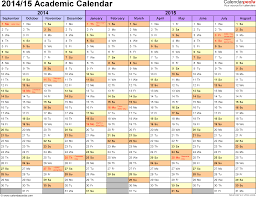 Excel Monthly Planner Template Academic Calendars 2014 2015 As Free Printable Excel Templates