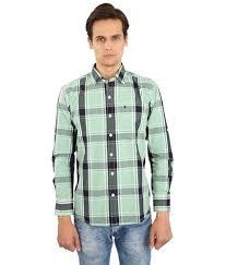 pista colour edenelliot pista green colour checks casual full sleeves shirt
