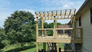 Pergola Off House by 20160603 121741 Tennessee Deck Builders