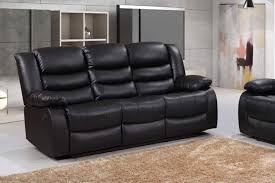 Sofa Recliner Leather Romano 3 Seater Recliner Bonded Leather Sofa Furniturestop Co Uk