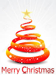 abstract orange christmas tree background vector illustration