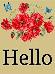 red flower greeting card birthday u0026 greeting cards by davia