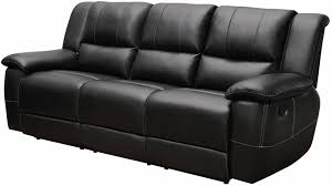 Reclining Sofas Leather Black Bonded Leather Reclining Sofa Stores Chicago