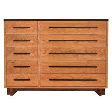10 Drawer Cabinet Modern 10 Drawer Dresser In Solid Hardwood With Natural Finish