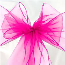 Pink Chair Sashes Pink Organza Chair Sashes 3m