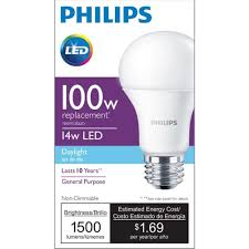 Led Versus Fluorescent Light Bulbs by Philips 455717 100 Watt Equivalent A19 Led Light Bulb Daylight 4