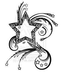 drawings of stars tattoos clip art library