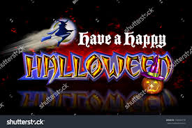 happy halloween animated images have happy halloween flying witch pumpkin stock illustration