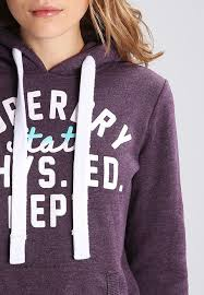 cost effective hoodie dahlia purple marl by superdry sweetheart