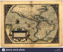 True World Map by Map Of The New World In The 1570 Edition Of The Ortelius Atlas