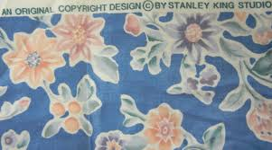 stanley king studio cotton home decor fabric 3 yds x 54 floral