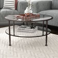 Glass And Metal Coffee Tables Glass Coffee Tables You Ll Wayfair