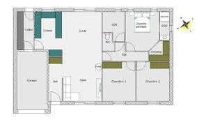 plan maison plain pied 100m2 3 chambres exceptionnel plan maison plain pied 3 chambres 100m2 10 plan