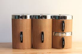 brown kitchen canister sets kromex faux bois canisters with flour sugar coffee and tea